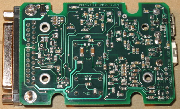Usb radio interface project here is a bottom view of the printed circuit board after components have been installed sciox Choice Image